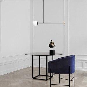 Image 2 - Postmodernen Minimalistischen Esstisch LED Anhänger Lampe Kreative Kunst Deco Parlor Halle Kaffee Shop Suspension Beleuchtung Leuchten