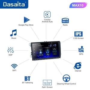 "Image 5 - Dasaita 9"" IPS Screen 1 Din Car Radio Android 10 Carplay for VW GPS Polo Golf Eos Tiguan Seat leon Passat Car Stereo TDA7850"