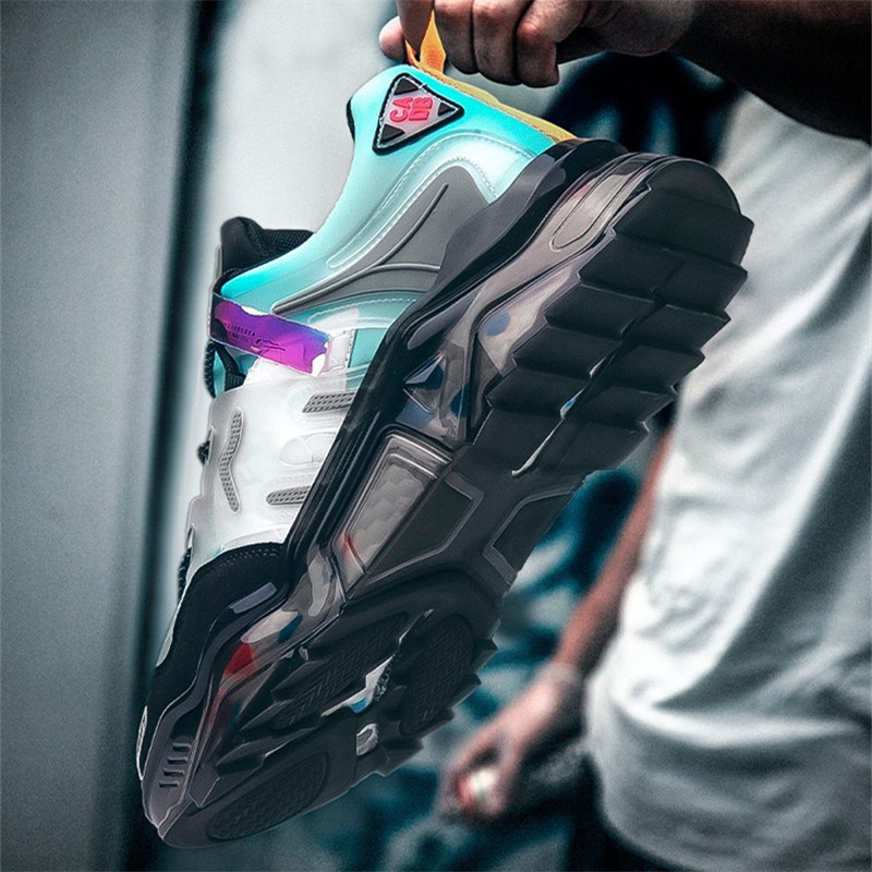 Low-top Men's Trend Sneakers cb5feb1b7314637725a2e7: Black Blue