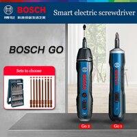 Bosch-destornillador eléctrico automático recargable, taladro de mano, Bosch Go Go2, multifunción, juegos de herramientas