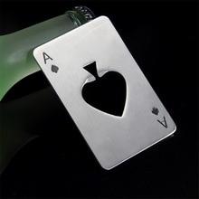 Новые стильные горячие продажи 1 шт. покерные игровые карты Ace of Spades Бар Инструмент газировка, пиво, бутылка открывалка в подарок
