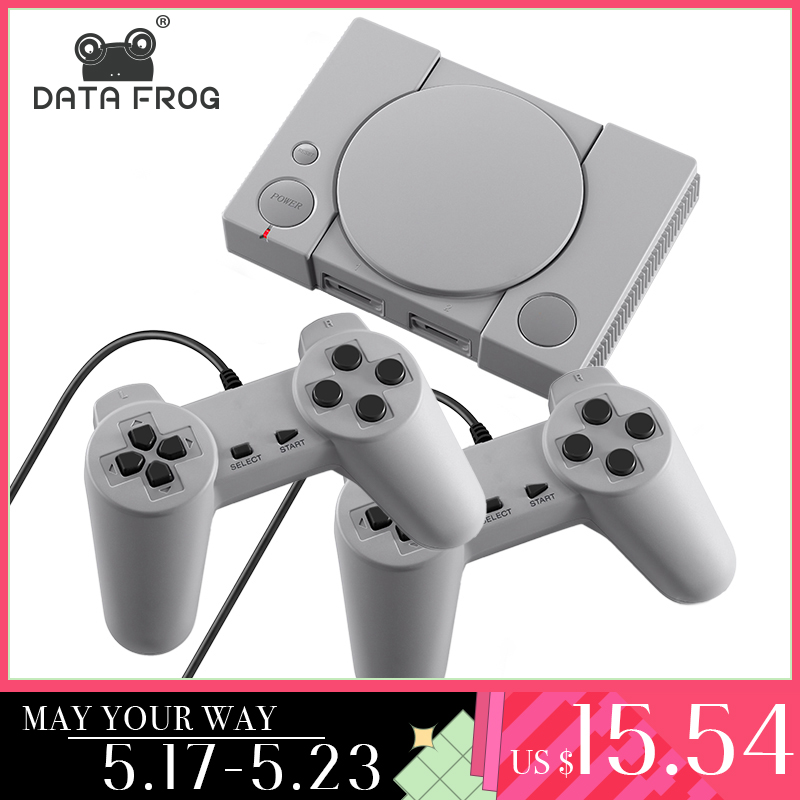 DATA FROG Mini 620 Retro Video Games Console Double Players 8 Bit Support AV Out Family TV Retro Games Controller(China)