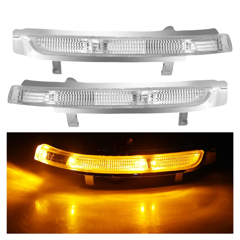 Car Rearview Mirror Led Side Turn Signals Light Side Wing Repeater Indicator Lamp For Skoda Octavia Superb