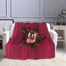 Stylish Tasmanian Devil Taz Blanket Polyester Fiber Super Soft Blanket Warm Sofa Blanket Air Conditioning Blanket 60