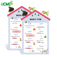 House Shape Magnetic Whiteboard Calendar Weekly Planner Fridge Magnets Writing Drawing Message Board Office School Home Supply