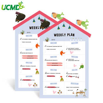 House Shape Magnetic Whiteboard Calendar Weekly Planner Fridge Magnets Writing Drawing Message Board Office School Home Supply - Category 🛒 Education & Office Supplies