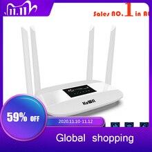 300Mbps 4G راوتر مقفلة 4G LTE CPE راوتر لاسلكي دعم بطاقة SIM 4 قطعة هوائي مع منفذ LAN دعم ما يصل إلى 32 واي فاي المستخدمين