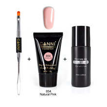 CANNI Poly Nails UV Gel Slip Solution Kit Builder Gel Soft Pink Extend Cover Camouflage Clear LED UV Acrylic Crystal  Nail Gel