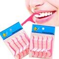 100 шт./лот одноразовый зубной Флоссер, межзубная щетка, зубная палочка, зубочистка, зубная нить, палочка для полости рта, жвачка, уход за зубам...
