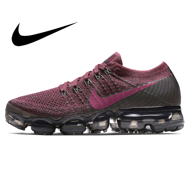 Original Authentic Nike Air VaporMax Flyknit Women's Breathable Running Shoes Outdoor Sports Comfortable Jogging 849557-605