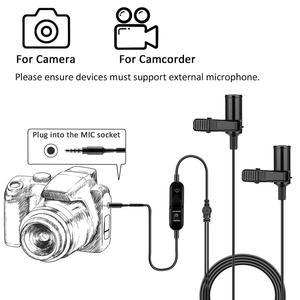 Image 2 - KIMAFUN Dual Lavalierไมโครโฟนแฮนด์ฟรีClip on LapelไมโครโฟนMINIคอคอนเดนเซอร์MICสำหรับกล้องDSLRโทรศัพท์PCแล็ปท็อป