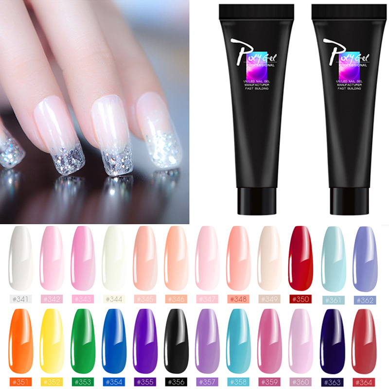 Polygel Nail Acrylic Poly Gel Pink White Clear Crystal UV LED Builder Gel Quick Extension Gel Tips Enhancement Slip Solution