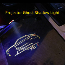 1 par para x6 e71 e72 f16 g06 f86 (2008-2021) carro led porta luz de advertência projetor fantasma sombra luz bem-vinda luz