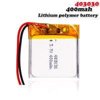 Batería recargable de polímero de litio para MP3, MP4, GPS, DVR, reloj inteligente, grabadora, teléfono inalámbrico, celdas li-po, 403030, 3,7 V, 400mAh