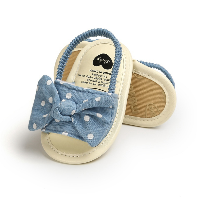 Fashion Baby Girls Sandals Cute Bow Breathable Anti-Slip Summer Sandals Toddler Soft Soled First Walkers Shoes 0-18M