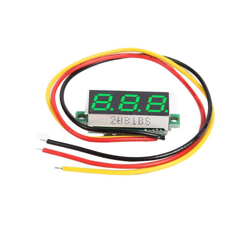 0.28 Inch Ultra Small Digital Dc Digital Display Adjustable Three Line <font><b>Dc0</b></font>-<font><b>100v</b></font> Battery Voltmeter 2-Line 3-Line Universal image