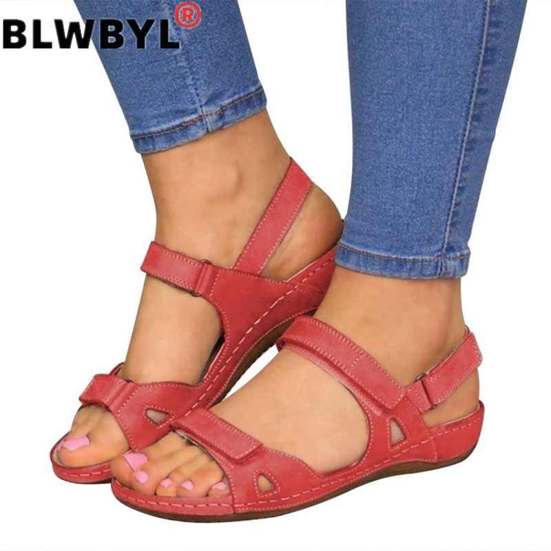 ผู้หญิงฤดูร้อนเปิดนิ้วเท้า Comfy รองเท้าแตะ Super Soft Premium Orthopedic รองเท้าส้นสูงเดินรองเท้าแตะ Toe Corrector Cusion