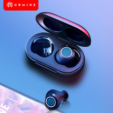 Bluetooth Earphones 5.0 TWS Fingerprint Touch Control HD Stereo Wireless Headphones Noise Cancelling Gaming Headset