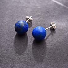 Real 925 Sterling Silver Earrings Natural Lapis Lazuli Creative Handmade Fine Jewelry Vintage Fashion Stud Earrings for Women df lsteel 07 для lenovo yoga tablet 8 прозрачная