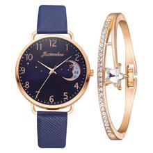 Woman's Watches Clock Star-Pattern Moon Ladies Bracelet Gift Quartz Female Reloj Casual