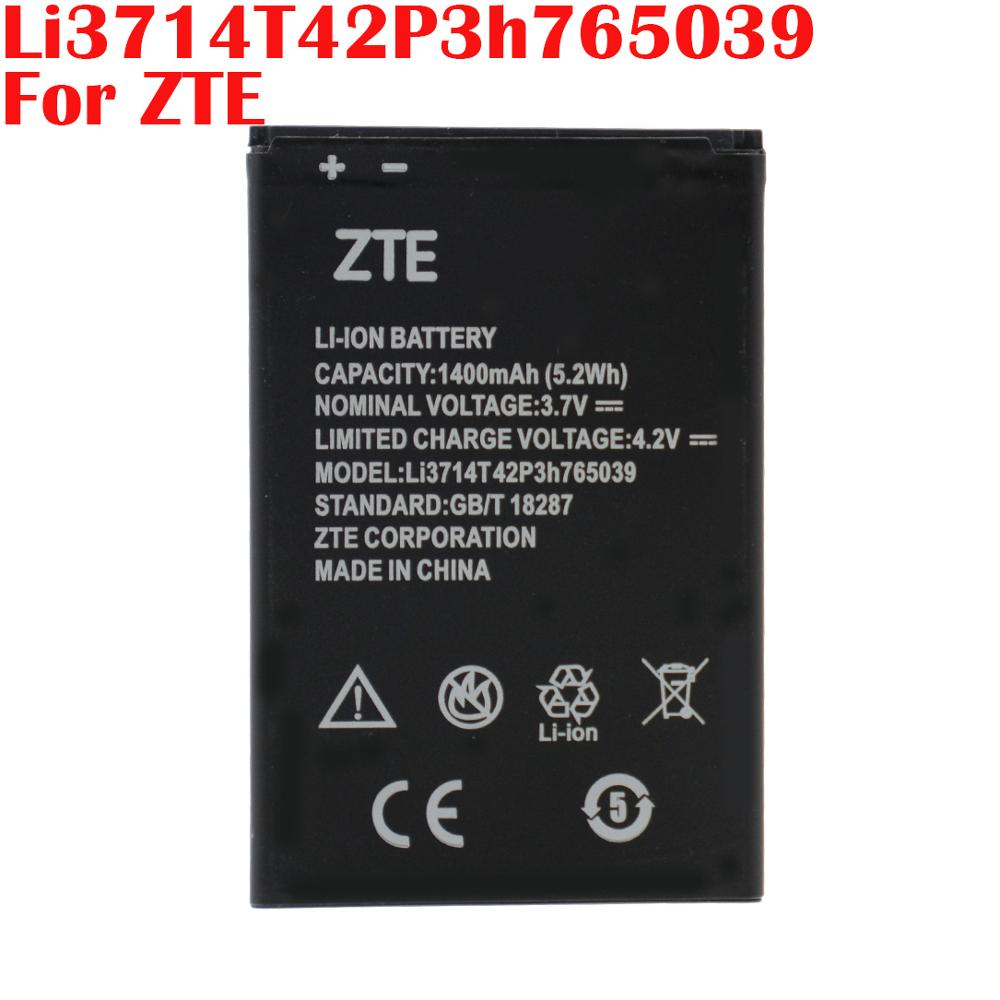 100% Real 1400mAh Li3714T42P3h765039 For ZTE Blade Q3 T230 AF3 T220 A3 T221 A5 AF5 A5 Pro High quality Battery+Tracking Number image