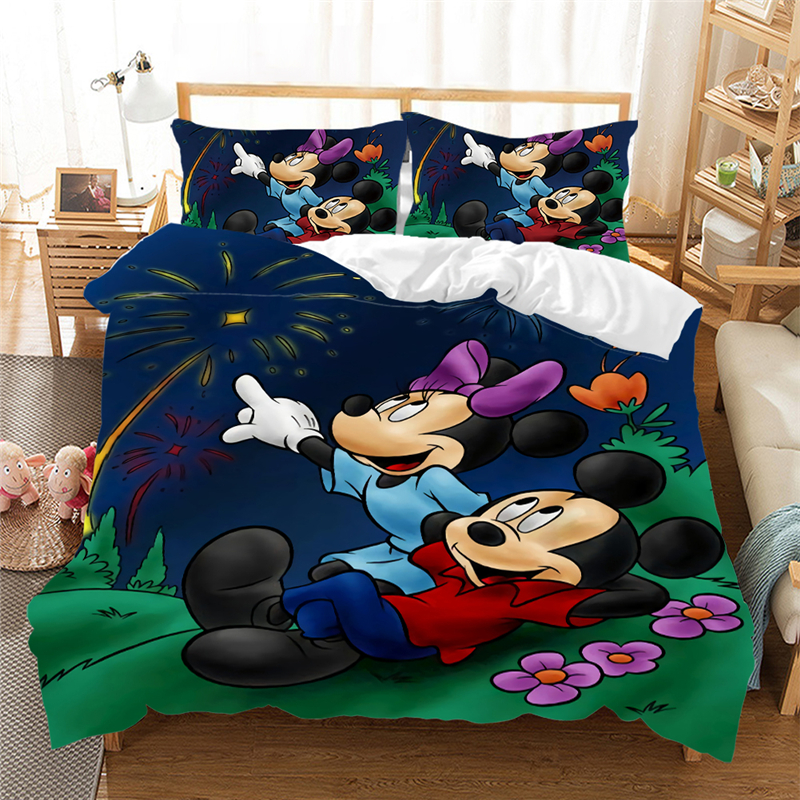 Disney Mickey Mouse Bedding Set Lovely Couple Queen King Size Bed Set Children Duvet Cover Pillow Cases Comforter Bedding Sets Bedding Sets Aliexpress