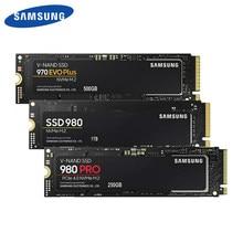 Samsung ssd m.2 500gb 970 evo plus nvme unidade de estado sólido interno 980 pro 1tb disco rígido 980 nvme 250gb hdd para computador portátil