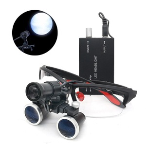 Image 2 - 2.5X/3.5X 420 mm Dental Loupe Magnifier Binocular Magnifier Surgery Surgical Medical Operation Loupe with Spotlight Head Light
