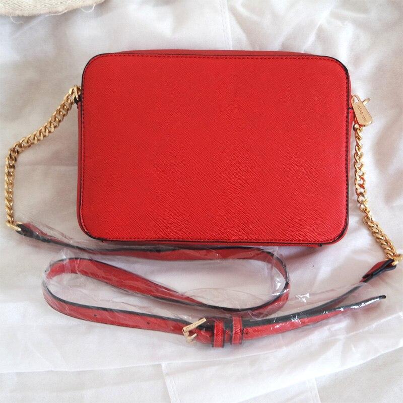 New Style Women Fashion Michael Small Square Cross Pattern PU Leather Ladies Shoulder Messenger Chain Bag Trend Female Bolsa
