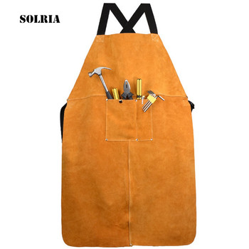 цена на Professional Welding Protect Apron Leather Electric Welding Apron Blacksmith Protective Save-all Clothing Safety Guard