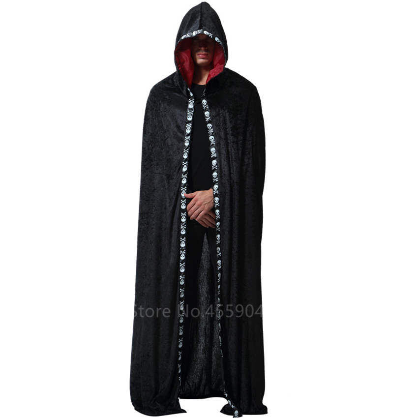 Medieval Cosplay Wizard Death Cloak Halloween Carnival For Adult Men Party Performance Middle Ages Ghost Devil Costumes