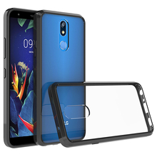 Hot Hybrid Shockproof Cover Air Cushion Frame Case For LG K40 5.7inch Acrylic Crystal Clear Back Shell Scratch Resistant Coating