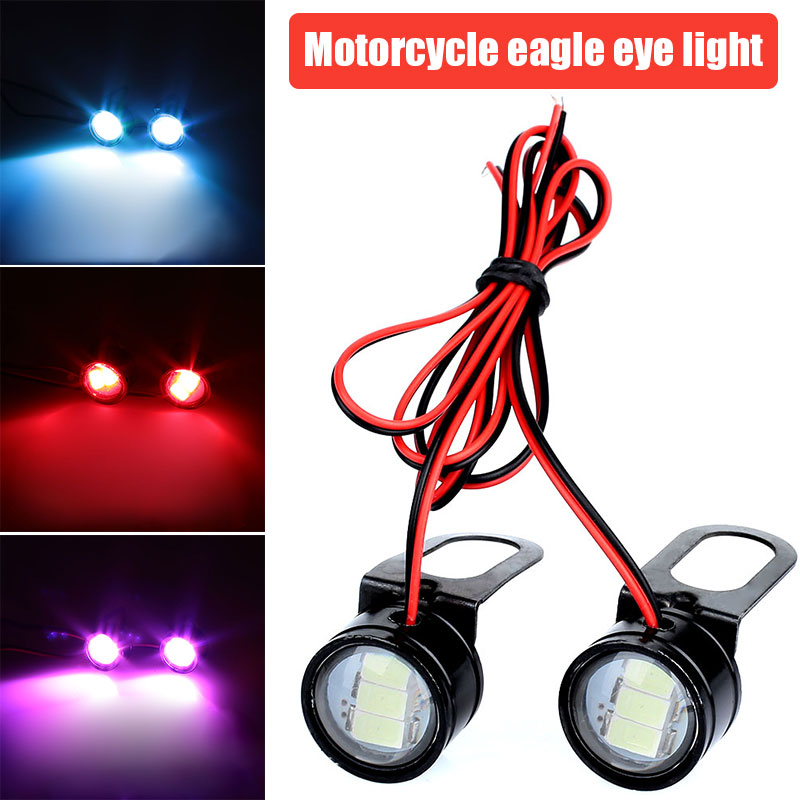DC 12V Flashing Modified Eagle Eye Lamp General DRL Daytime Running Light Universal Motorcycle Flashing Light