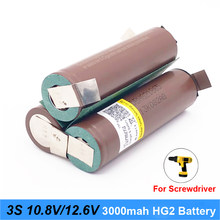 12V 18650 hg2 3000mAh 20 amperów dla 12.6v śrubokręt baterii spawania lutowania taśmy 3S 3S2P bateria litowa 12.6v (dostosuj) Turmera