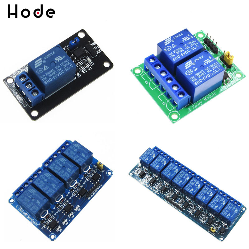 1 2 4 8 Channel 5V Relay Module Board Shield with Optocoupler Support High and Low Level Trigger for Arduino