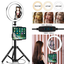 LED Selfie Ring Light Tripod 26cm Photo Studio Photography Photo Fill Ring Lamp with Tripod Stand for YouTube Live Video Makeup led selfie ring light tripod 26cm photo studio photography photo fill ring lamp with tripod stand for youtube live video makeup