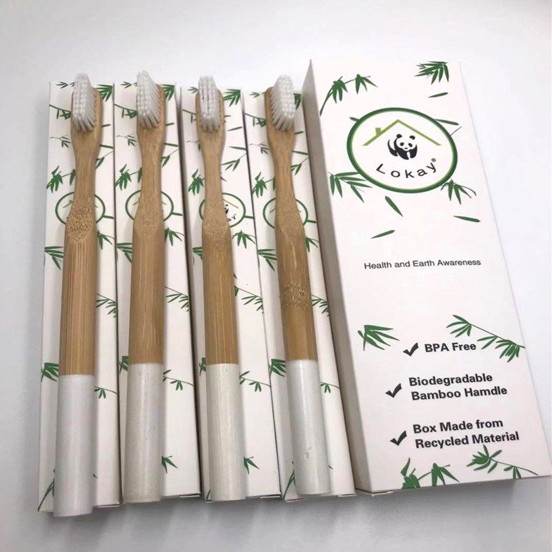 Natural Coton Demaquillant Lavable Biodegradable Cepillo De Dientes Bamboo Toothbrush Soft Eco Friendly Travel   Toothbrush