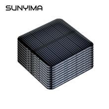 SUNYIMA 10 sztuk 2V 160mAh krzem monokrystaliczny moduł panelu słonecznego 50*50MM DIY Mini ogniwa słoneczne bateria telefon ładowarka hurtownie tanie tanio Panel słoneczny None Monokryształów krzemu