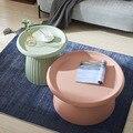 Nordic net red heart mushroom small tea table small family tea table Nordic coffee table living room tea table simple modern