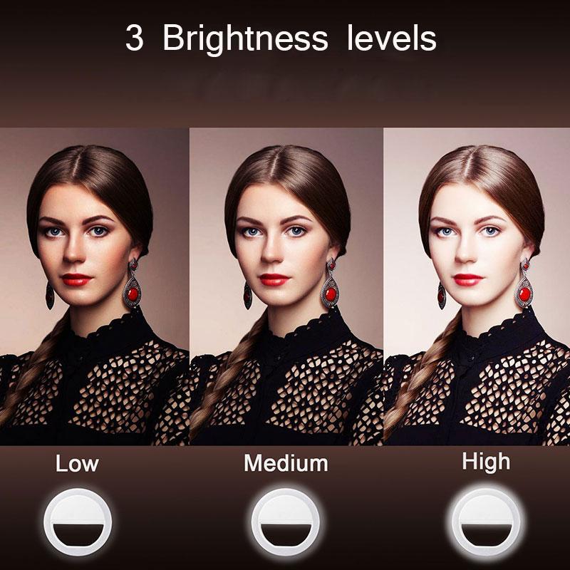 H44ea0290753e430c93e512f9a4ed863bq - Selfie LED Ring Fill Light Portable Mobile Phone 36 LEDS Selfie Lamp 3 levels Lighting Luminous Ring Clip For All Cell Phones