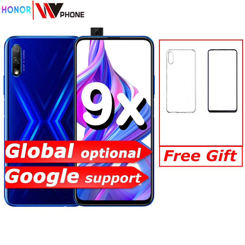 Honor 9x Smart Phone Kirin 810 Octa Core 6.59 Inch Lifting Full Screen 48MP Dual Cameras 4000mAh GPU Turbo Mobile Phone