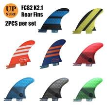 Surf aleta trasera FCS 2 K2.1, amarilla, fibra de vidrio, colchas fcs ii K2.1, aletas traseras, tabla de Surf, Quilhas, aletas FCSII