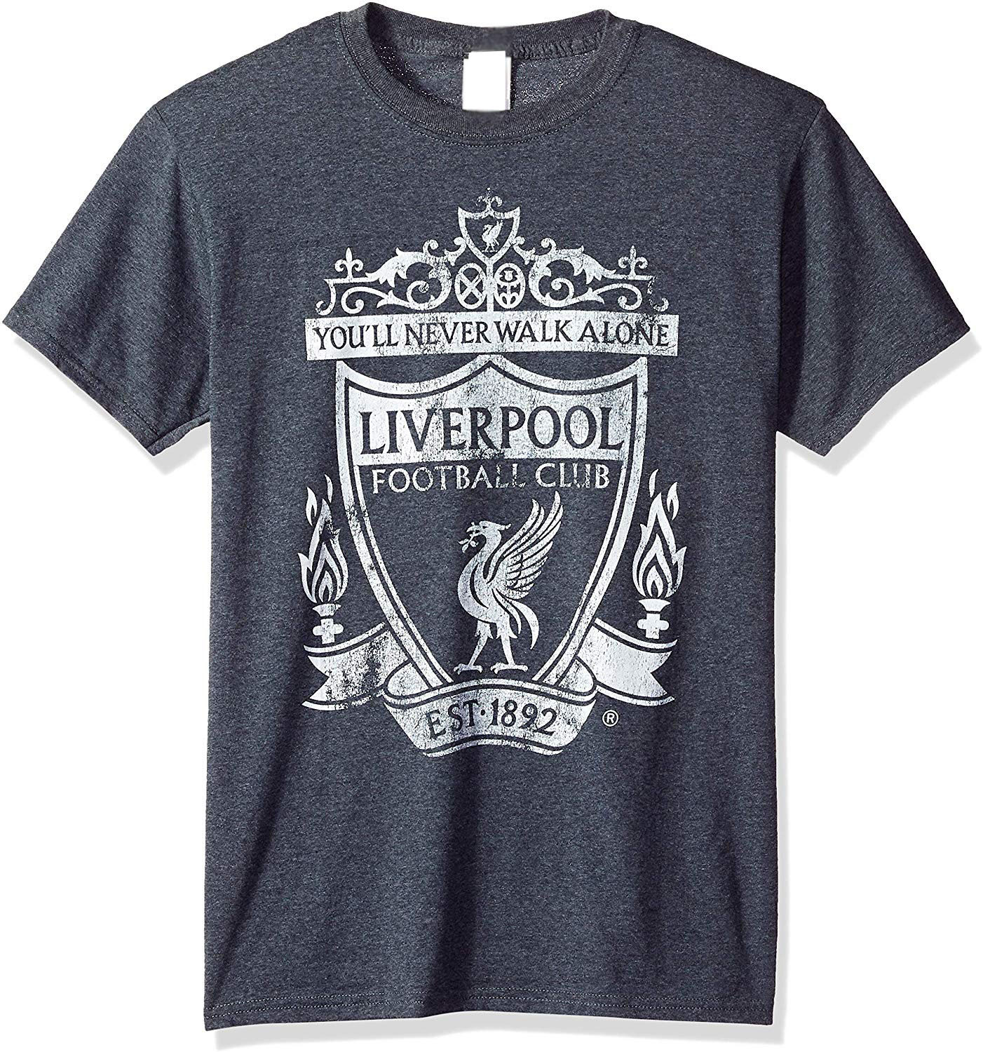 Official Liverpool Mono Color Logo Men's Tee Top Christmas Gifts TEE Shirt 100% Cotton T-shirt