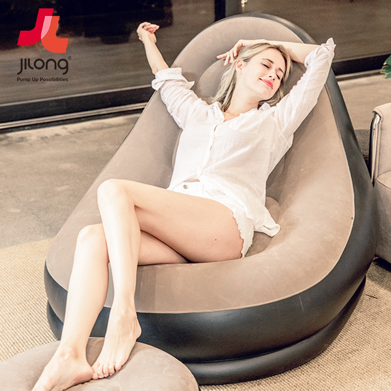 Trill Air Single Sofa Leisure Bean Bag Portable Inflatable Bed Couch Couch Rice Balcony Lazy Easy Chair Cushion