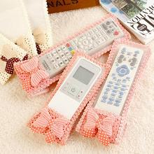 Fabric Case TV Remote Cartoon Control Storage Bag Pink Organization Butterfly Dust Coat Protector Cover