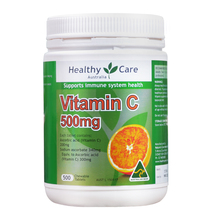 Healthy Care Vitamin C 500mg 500 Tablets Vitamins for Men Women Immunity Health