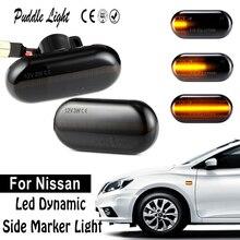 2Pcs LED Dynamic Side Marker Turn Signal Light For Nissan(X70 X76 X83) INTERSTAR PRIMASTAR KUBISTAR