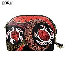 Crossbody-Bag Hawaiian Shell-Bag FORUDESIGNS 3d-Print Women Bolsa PU Daily Sea-Turtle