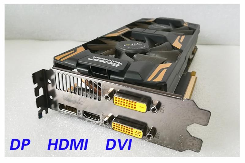 Zotac GTX 760 2GB Graphics Card GTX760 2GB Video Cards GPU Desktop PC Computer Game Screen Map 560 750 Ti HDMI VGA Videocard DVI 5