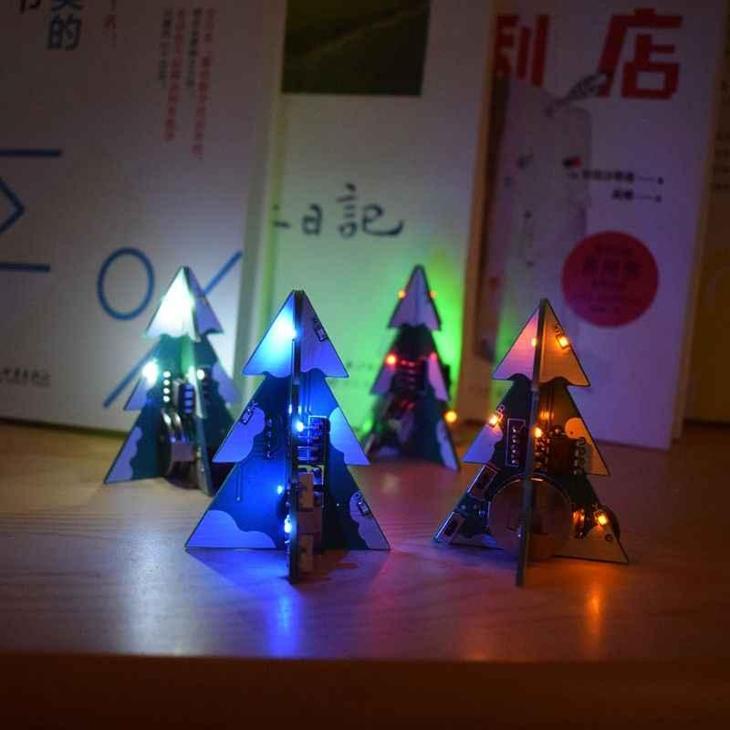 3D ミニ PCB ステレオクリスマスツリー DIY 音楽キット回路電子 DIY キットギフト